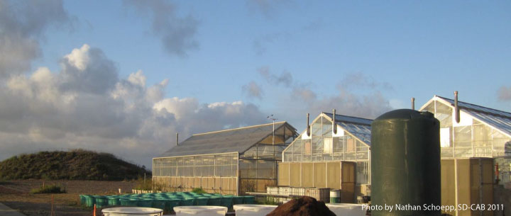 San Diego Center for Algae Biotechnology Greenhouse facilities